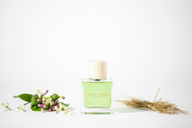 "Vetyver Bergamot Eau de Toilette 50ml | <a href=""http://store.ingridstarnes.com/VetyverBergamotEDT"" target=""_blank""><u> $160 from Ingrid Starnes.</u></a>"