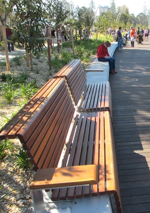 Seating along the Promenade