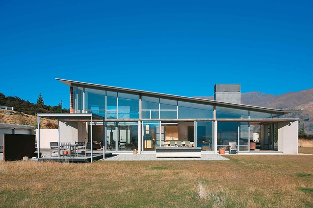 The north elevation of this Wanaka house designed by John McCoy..