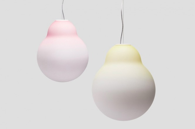 'Yellow, Pink, White Light' in two finishes.