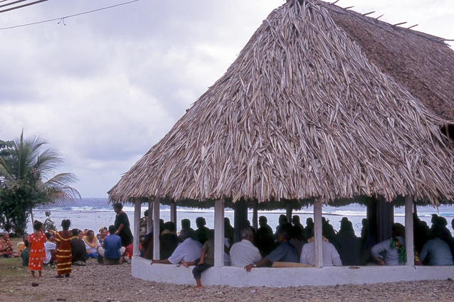 A community fale in Futuna.