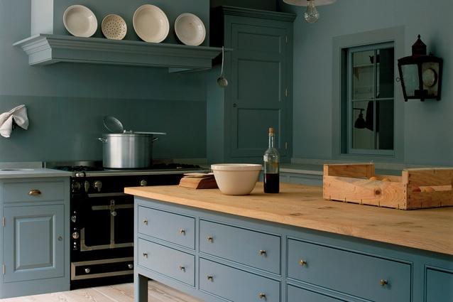 A classic kitchen designed by British designers Plain English.