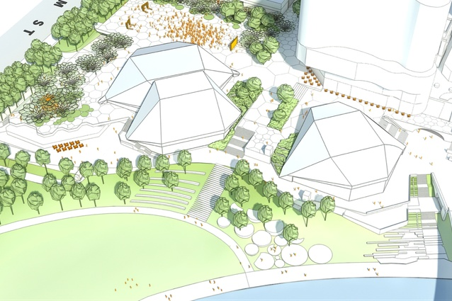 A proposed new riverside promenade in the Adelaide Festival Plaza redevelopment.