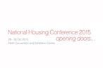 National Housing Conference 2015