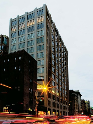 The apartment building is in New York's chic lower Manhattan.