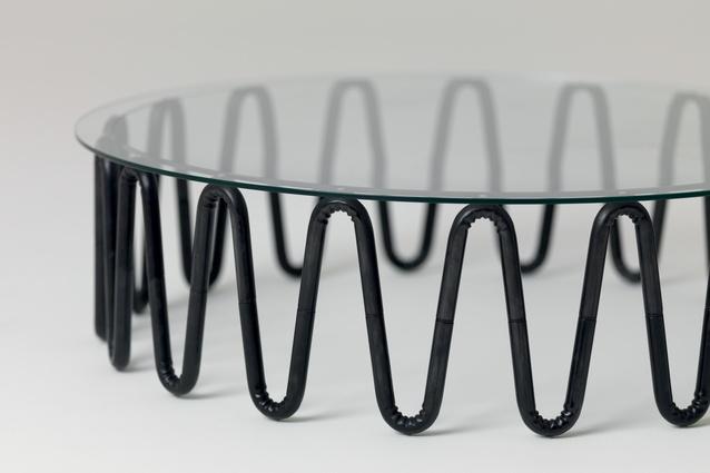 Wrinkle coffee table.