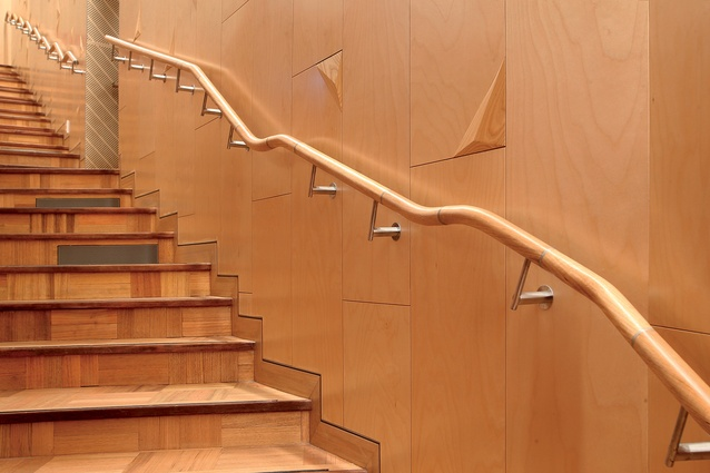 Parquet flooring, deemed durable, decorative and traditional, replaces carpet in the stalls and circle floors.