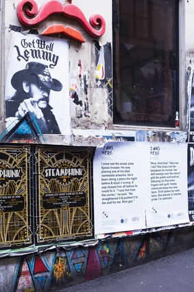 A multi-site work I Was Here by Chart Collective invited anonymous true stories set in Melbourne's CBD and overlaid them through a series of posters.