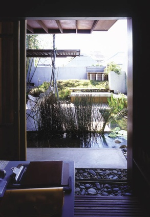 D House, 2000, Brisbane, Qld: Looking into a luscious outdoor room from one of the bedrooms. 