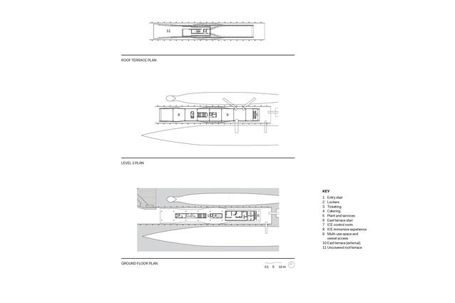 The Waterfront Pavilion floor plans.