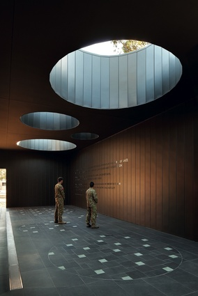 The 2011 Public Design Award winner: Puckapunyal Military Area Memorial Chapel by  BVN Architecture.