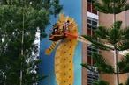 Vibrant mural art for social housing