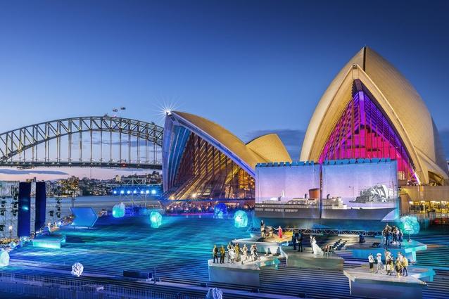 The set of Sydney Opera House — The Opera (The Eighth Wonder).