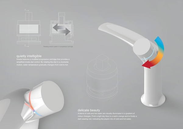Koeda Intuitive Mixer Tap by ShanShan Wang.