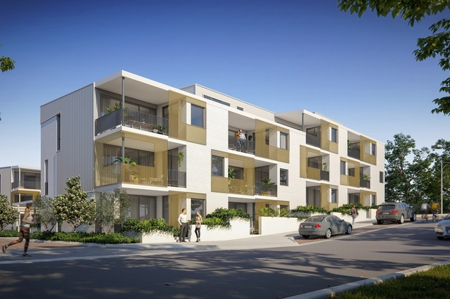 """Yolk Property Group's Evermore development, designed by Harris Architects, has been recognized by Bioregional Australia as a """"one planet community."""""""