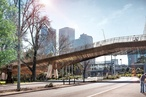 New Melbourne bridge from Wardle, NADAAA