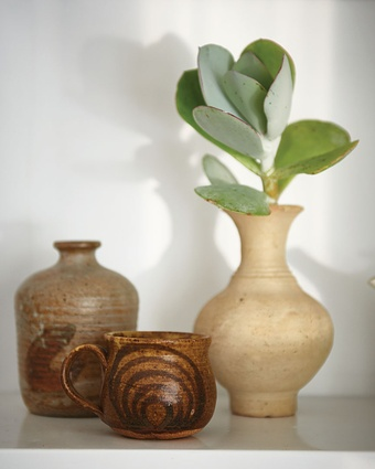 """Pottery cup: """"My birth-mother's name was Margaret Herne and she was an artist and art teacher but sadly I she died in a car accident before I ever met her,"""" Leanna says. """"She was also a potter in Albany and worked with  a lot of well-known potters but this is the only item of hers I have."""""""