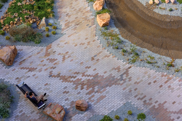 The use of bricks in the garden speaks to the colours of their clay mineral composition.