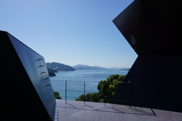 Rooftop of the Toyo Ito Museum of Architecture, Imabari - this could be an almost flawless digital render as easily as the real thing.