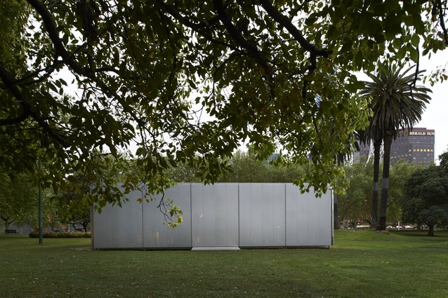 When closed, the MPavilion is like a jewellery box in the field.