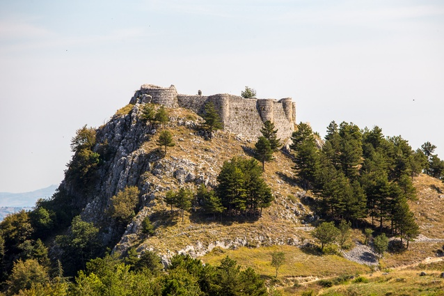 The ruins of Italy's Castle of Roccamandolfi.