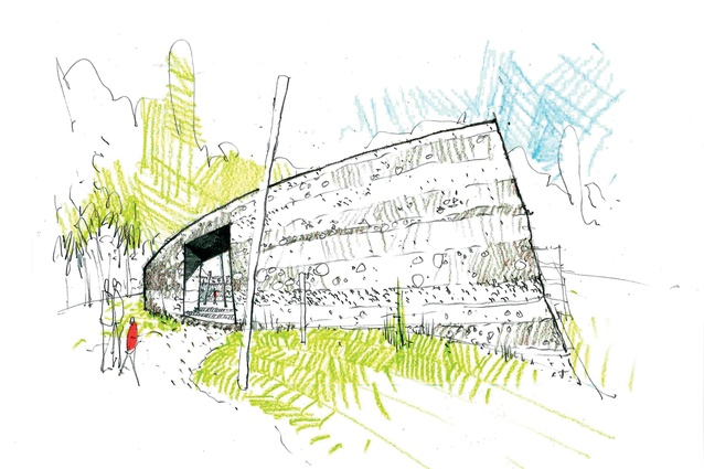 Concept sketch of Rore Kāhu by Cheshire Architects.