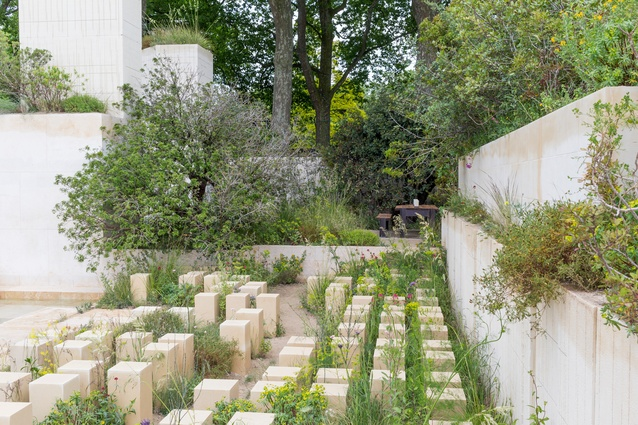 The award for Best Show Garden went to James Basson for the M&G Garden, an evocation of a Maltese quarry where nature and a gardener have worked together to heal the scars of excavation.