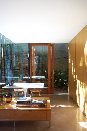 The sunny breakfast area of the living volume.