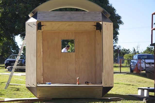 Temporary Construction Shelters : Emergency shelter exhibition architectureau