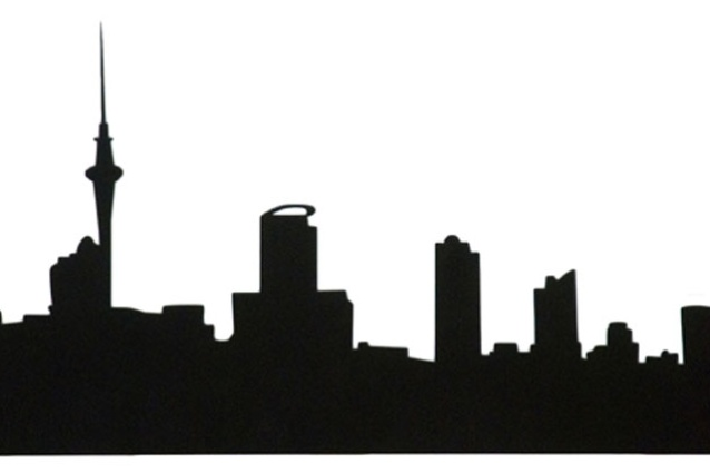 Auckland Skyline coat rack by Catherine David Design.