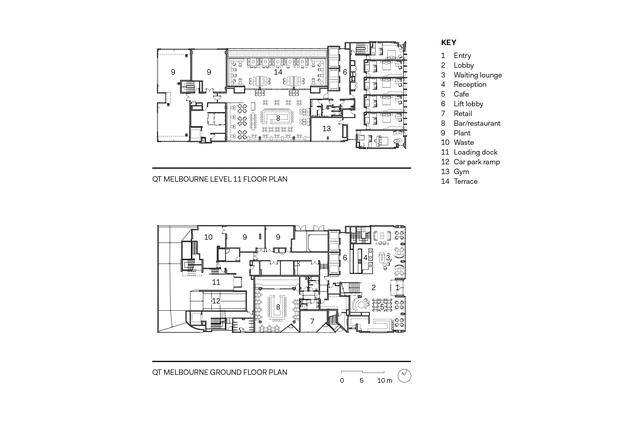 QT Melbourne floor plans.