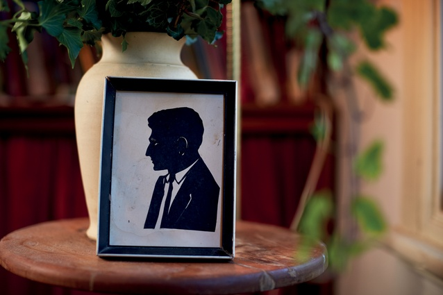 "Framed silhouette of her father (1965). ""My parents each had one done during their honeymoon in Mexico. Mum sold hers when they broke up. I wish I had it, but I've got dad, and the image has become the inspiration for a new men's line."""