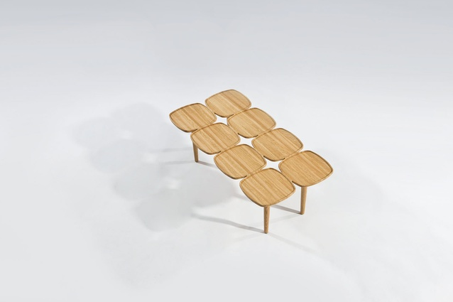 The Petal Coffee Table comes in three different timbers and in four different sizes.