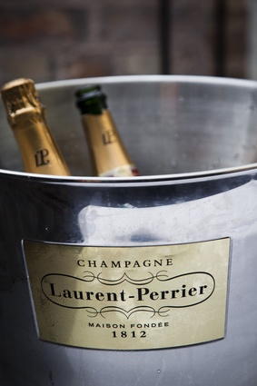 Guests enjoyed a glass of Champagne Laurent-Perrier.
