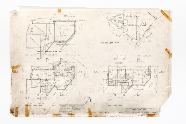 Original plans of the McDonald-Smith House from 1968.