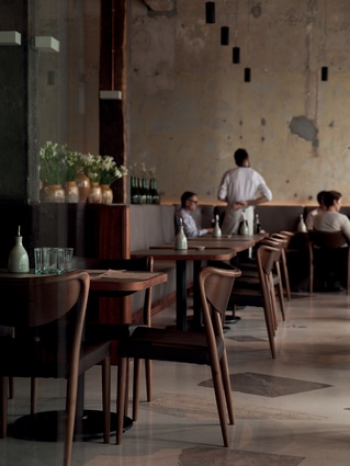Softly formed seating in the restaurant with high levels of comfort.