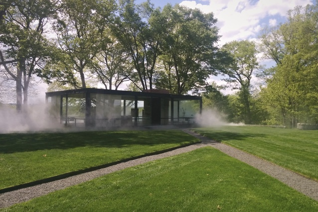 Phillip Johnson's Glass House in New Canaan Conneticut.