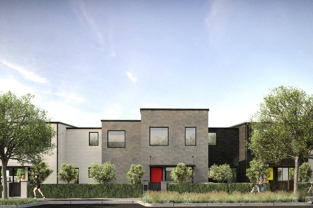 Render of proposed terrace housing at Market Cove.