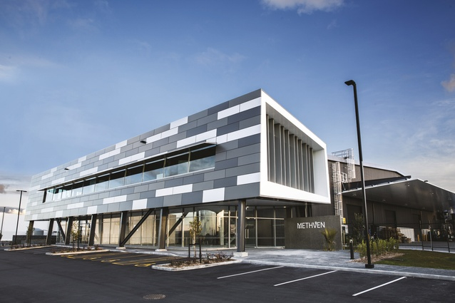 Methven's new global head office, experience centre and manufacturing facility in Avondale, Auckland.