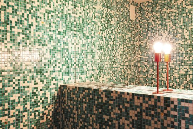 Bathrooms in Cafe Hanoi.