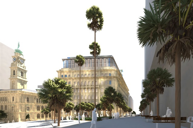 The proposed redevelopment of Sydney's historic sandstone buildings in Bridge Street, designed by Make.