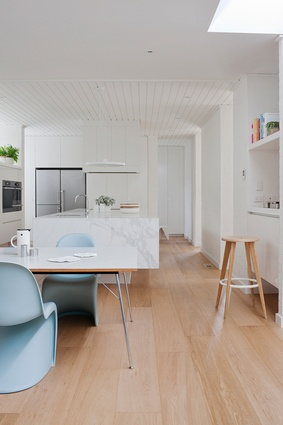 Simple, clean lines are key in this functional space.