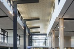 Supatile 10 acoustic timber ceiling tiles in The Corso conform to Green Star rating requirements
