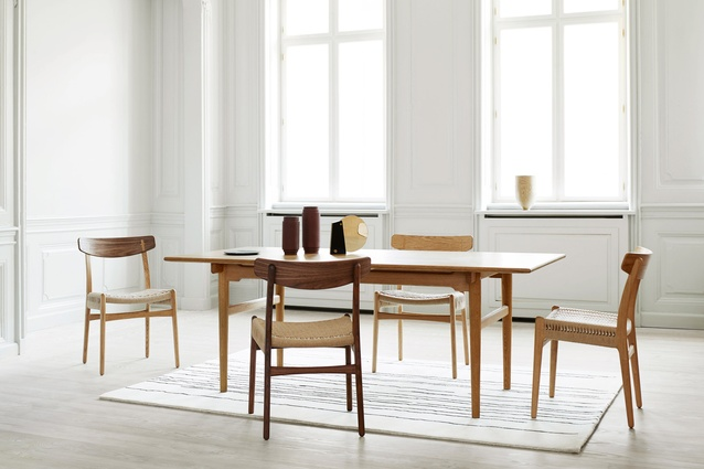 Carl Hansen & Sons rereleased the CH23 chair, originally designed in 1949 by Hans Wegner.