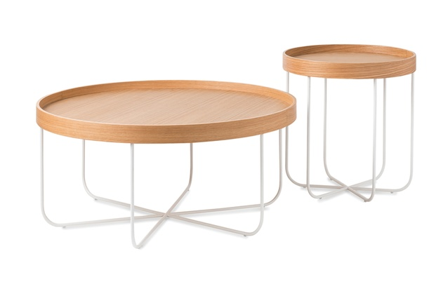 Coffee and side table from the Segment range.