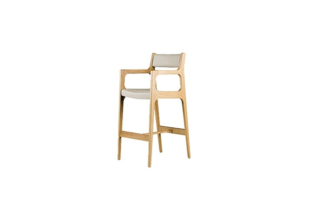 The elegantly modern form of the Deer Barstool was inspired by deer legs.