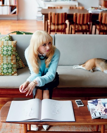 Kiwi illustrator, Kelly Thompson, in her Melbourne home.