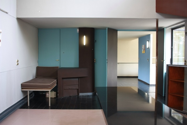 While mostly empty of its original art work, Maison La Roche does boast Le Corbusier's original colour scheme.