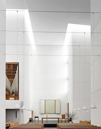 Interiors category: Photographer: Fabrice Fouillet. Building: Jesus Church, San Sebastian, Spain. Architect: Rafael Moneo.