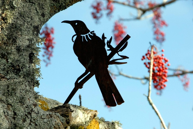 'Tui' Metal Bird by Phil Walters.